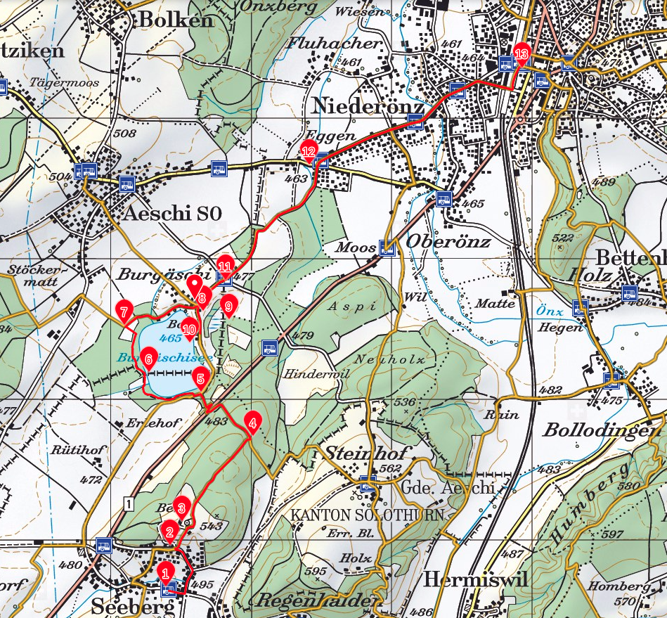 Wanderung Seeberg Burgaeschisee Karte